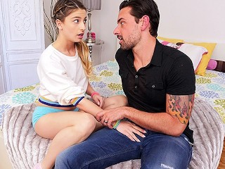CUM4K Step dad sex education FUCK with CREAMPIE
