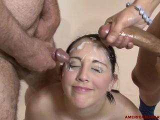 Oral Sex Performance Fucking, AmericA Bukkake- nickey Huntsman masturbates then takes over 20 facials Babe Brunette