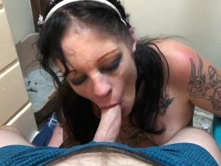 JezabelJamez blowing me next to the trash box doing her job well Houston/TX