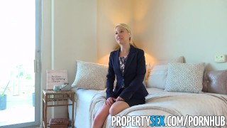 PropertySex - Hot Southern MILF real estate agent gets creampie Solo off