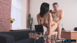 Dirty Flix - Evelyn Cage - Young brunette gets anal fucked hard! Doggy missionary