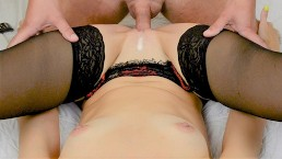 Pussyjob and fucking milf after shooting big load on her pussy Female POV