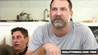 Reality Kings - Sneaky Sex - No Fucking Around - Sofi Ryan , Brad Knight Natural stretching