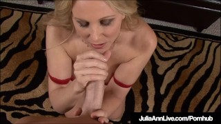 Blonde beautiful milf cock talks julia a ann blows dirty juliaannlive cock