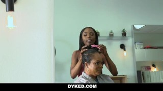 Dyked - Straight White Teen Seduced By Hot Hair Dresser porno