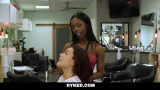 Dyked by teen dresser hot straight hair seduced white banks lesbo