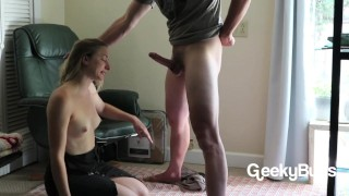 Throating with cock his load struggling his face fuck