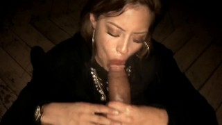 Latina babe gives bbc sloppy deepthroat for tongue cumshot Couple italiana