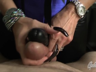 Video leather coat hand job