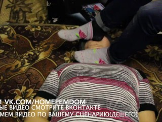 Real And Chance Girl On Porn Video Femdome Boud Home Slave Lick Kiss Feet Facesitting Bdsm, Bondage