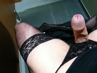 Quick Kinky Wank & Cum In Posh Hotel Public Toilet