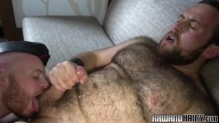Chubby bearded bear gets anally fucked