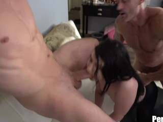 Goth Girlfriend Makes You Her Sissy While She Gets Anal Fucked