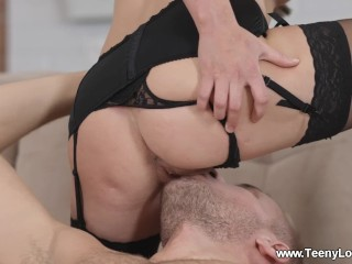 Preview 3 of Teeny Lovers - Alice Koks - Teen fucking all over the room