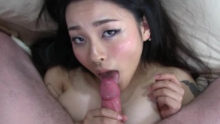 Lil until fuck rough asian she rae shakes creampie black fucks rae