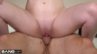 College girl Kinsley Anne sucks dick in a parked car Solo pussy