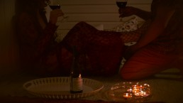 Romantic Candle Date with Curly Redhead MILF - Mutual Handjob Double Orgasm