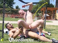 ManRoyale World cup celebration backyard ROMP with hunks