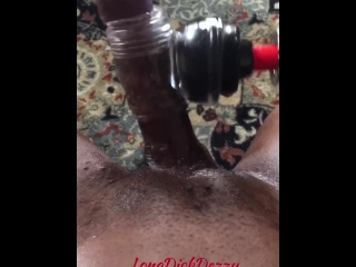 STROKING THIS DICK WITH A MAGIC WAND