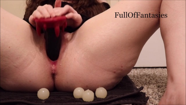 Recovering from a vaginal hysterectomy - Playing with my ovipositor, squick oral pussy egg birth
