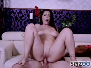 Spizoo - Big booty Noelle Easton is fucked by a big hard dick, big boobs