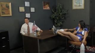 Cheerleader Takes Over The School - Brenna Sparks - Femdom  ass worship face sitting slave femdom asian kink brunette feet tattooed mistress big butt ass licking meanbitches