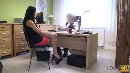 LOAN4K. Inga can't get money from bank so takes part in loan porn