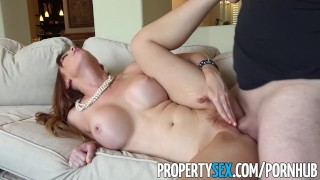 Agent fucks real petite estate redhead client propertysex skinny of