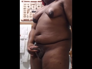 Bebe Black Thick Transgender Woman Playing With Her Dick