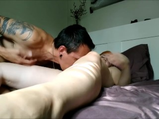 Older/younger couple doing what comes naturally… cream pie pawg Emma Rae