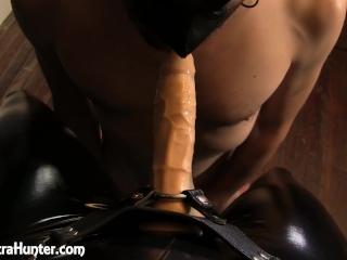 Male slut learns to deep throat