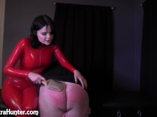 Punished with 300 Hairbrush Spanks