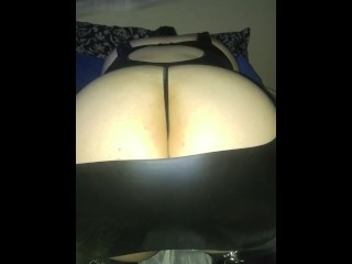 Teasing my submissive slutty Latina with paddle before a good domination