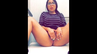Fitting room masturbation Teen body