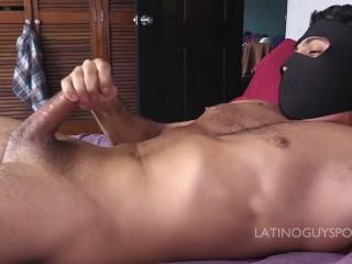 HUNG LATIN STUD DANIEL SHOOTS A HUGE LOAD