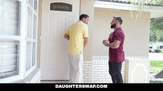 DaughterSwap - Teen Besties Fuck Eachothers Dads Brown bros