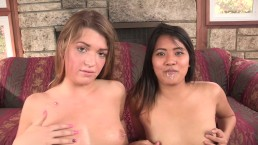 2 TEEN BEST FRIENDS ANSWER AD - FUCK A BIG DICK PORNSTAR 3WAY FOR EXTRA PAY