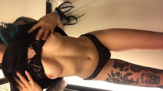 Fitting Room Masturbation Tattooed Babe Almost Caught In Public