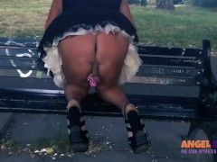Auntie Louise exposes sissy in park