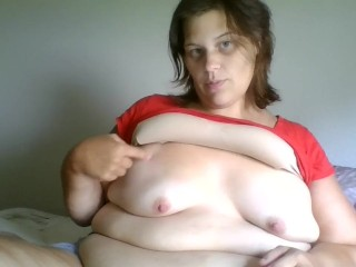 Hot Pregnant BBW Belly Play POV