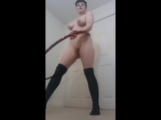 Slut Hula Hoops Naked!