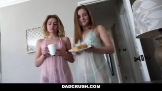 Stepdaughters dadcrush lucky fucks his stepdad stepdad threesome