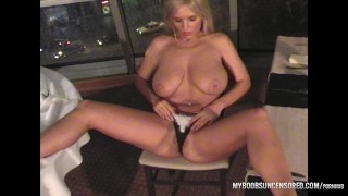 Busty star Ines Cudna masturbate in Restaurancev