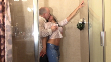 Fit Couple Drenched (Shower Scenes)