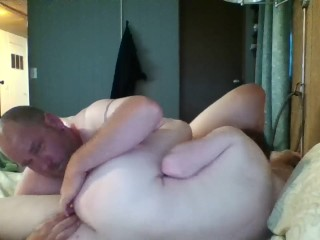 "Michael's cum kissing creampie, ""I came so hard in his sweet little ass"""