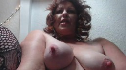 V101 Horny GILF cums all over big black cock