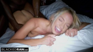 BLACKEDRAW Beautiful Teen's First BBC! Cowgirl blonde