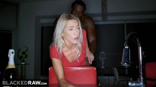BLACKEDRAW Beautiful Teen's First BBC! Pussy sucking