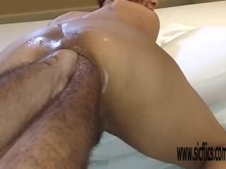 Double anal fisting Brazilian MILF Maria