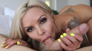 Hot Milf Nina Elle worships thick cock and creampie